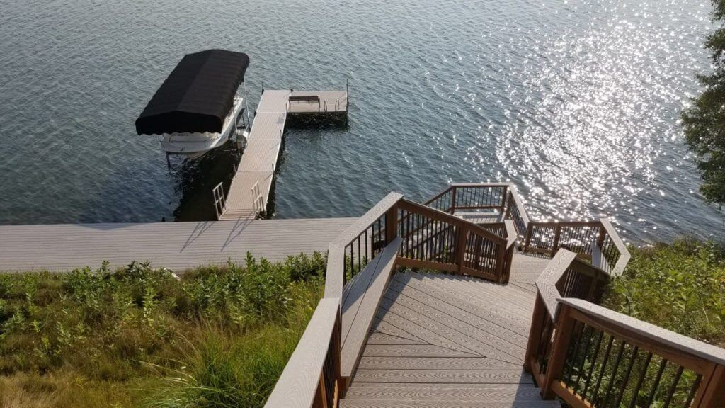 Deck on water